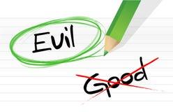 Good vs evil Stock Images