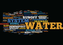 Good Water Drainage For Your Home Word Cloud Concept. Good Water Drainage For Your Home Text Background Word Cloud Concept Royalty Free Stock Images