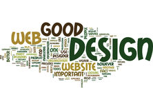 Good Web Design Is So Important Text Background  Word Cloud Concept Stock Photos
