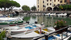 Good wether. Port beach in Italy city Stock Images