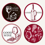 Good wine. Retro card or flyer. Label of beer. Restaurant theme. Stock Image