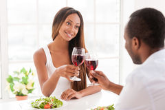 Good wine for special date. Stock Photos