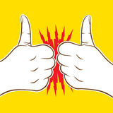 Good wish concept design. Two thumb up icon cheers or hit, good luck wish each other design Royalty Free Stock Photography