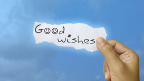 Good wishes. Message concept in raster format royalty free stock images
