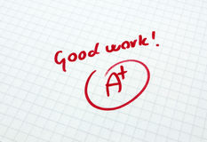 Good woork. Excelent assessment for good paper Royalty Free Stock Photo