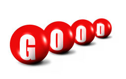 Good word made of 3D spheres on white Stock Photography
