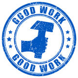 Good work. Vector stamp illustration Stock Image