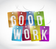Good work tags illustration design Stock Photos