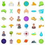 Good world icons set, cartoon style Royalty Free Stock Photo