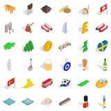 Good world icons set, isometric style. Good world icons set. isometric style of 36 good world vector icons for web isolated on white background Stock Photos