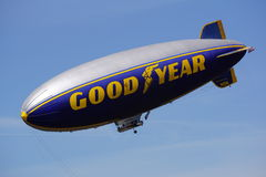 Good year blimp. The Good year blimp floats overhead coving the U.S. Open at Chambers Bay Washington Stock Photos