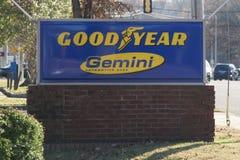 Good Year Gemini Sign. Good Year Gemini Car care center sign royalty free stock images