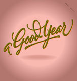 'A Good Year' hand lettering (vector) Royalty Free Stock Photos