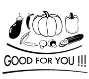 Good for you. Healthy vegetables which are good for you vector illustration