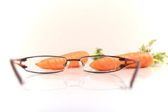 Good for your eyes. Healthcare concept, natural vitamin A, good for your eyes Royalty Free Stock Images