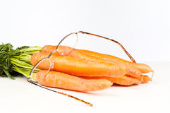 Good for your eyes. Vitamin A is good for your eyes, a nutrition concept Stock Photos