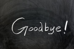 goodbye Royaltyfri Foto