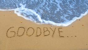 goodbye Lizenzfreie Stockbilder