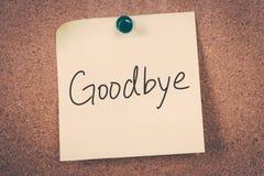 goodbye Royaltyfri Foto