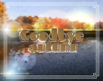 Goodbye Autumn.  background paer effect Royalty Free Stock Photos