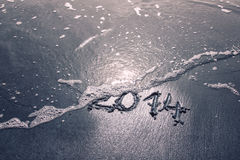 Goodbye 2014 background Royalty Free Stock Images