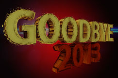 Goodbye 2013 Stock Photos