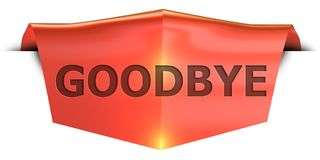 Banner goodbye Royalty Free Stock Images