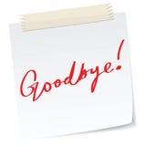 Goodbye note stock illustration