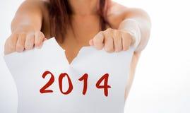 goodbye 2014 Stock Photography