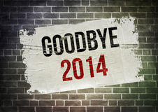 GOODBYE 2014. Poster concept illustration stock illustration