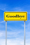 Goodbye roadsign Royalty Free Stock Photos