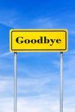 Goodbye roadsign Royalty Free Stock Photos