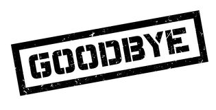 Goodbye rubber stamp Royalty Free Stock Images