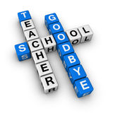 Goodbye school Stock Images