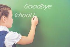 Goodbye school! Stock Photos