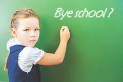 Goodbye school! Royalty Free Stock Images