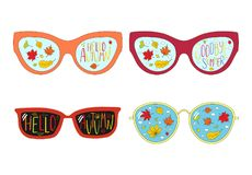 Goodbye Summer, Hello Autumn glasses Royalty Free Stock Photography