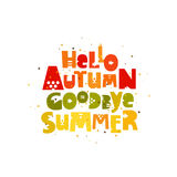 Goodbye Summer. Hello, Autumn Royalty Free Stock Images
