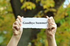 Goodbye Summer Royalty Free Stock Photos