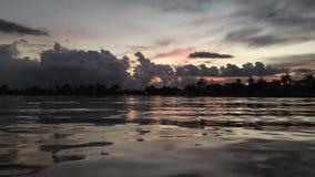 Goodbye Sun. Water bay dusk Royalty Free Stock Image