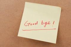 Goodbye uttrycker Arkivfoto