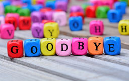 Goodbye word on table Royalty Free Stock Photography