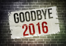 Goodbye 2016. Goodbye the year 2016 - poster illustration Stock Image