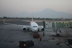 Goodbye, Yerevan!. A picture of an International Zvartnots airport Stock Image