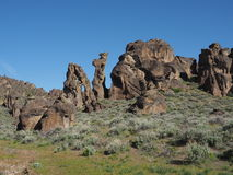 Gooding City of Rocks stock images
