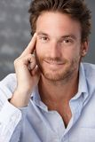 Goodlooking confident male portrait Royalty Free Stock Image