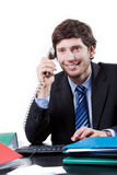 Goodlooking employee at office Stock Image