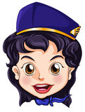 A goodlooking stewardess Royalty Free Stock Photo