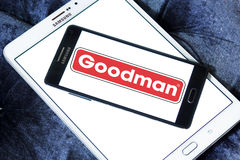 Goodman heating and air conditioning company logo Royalty Free Stock Photography