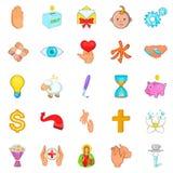 Goodness icons set, cartoon style. Goodness icons set. Cartoon set of 25 goodness vector icons for web isolated on white background Stock Photo